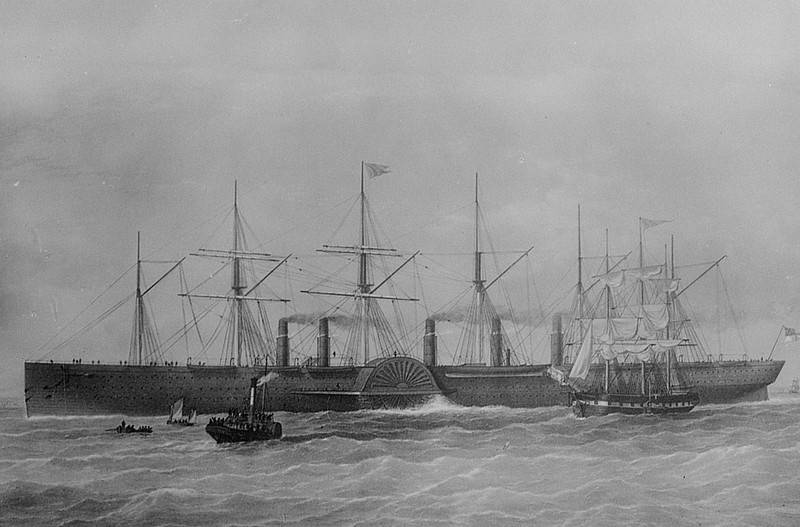"""""""Great Eastern"""", um 1860, Bild: Stoedtner, Franz (Lichtbildverlag) (Fotograf) (1860), SLUB/Deutsche Fotothek, Rechte vorbehalten - Freier Zugang"""