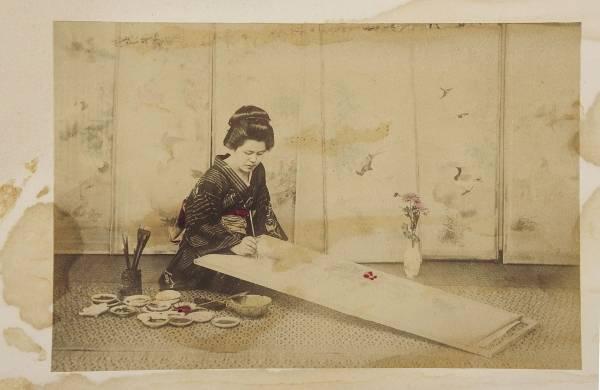 """""""Malerin"""", Japan 1890 - 1910, Museum für Kunst und Gewerbe Hamburg (CC0 1.0 Universell - Public Domain Dedication)"""