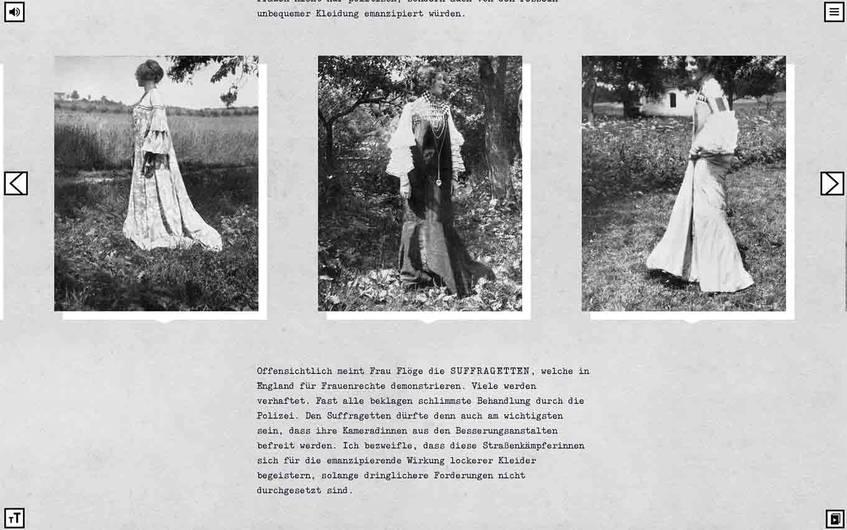 Christian Heller berichtet über mutige Frauen und die gewagte Mode von Gustav Klimt. (Screenshot)