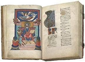 Quattuor Evangelia, Evangelist Matthäus, Fulda, 9. Jahrhundert (M.p.th.f.66, sog. Fuldaer Evangeliar) © Universitätsbibliothek Würzburg