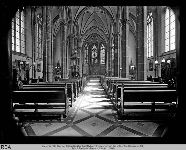 Köln, Bayenthal, Matthiaskirchplatz, Sankt Matthias?, Innenansicht nach Osten  Foto: Zapp, Fritz  © Rheinisches Bildarchiv Köln