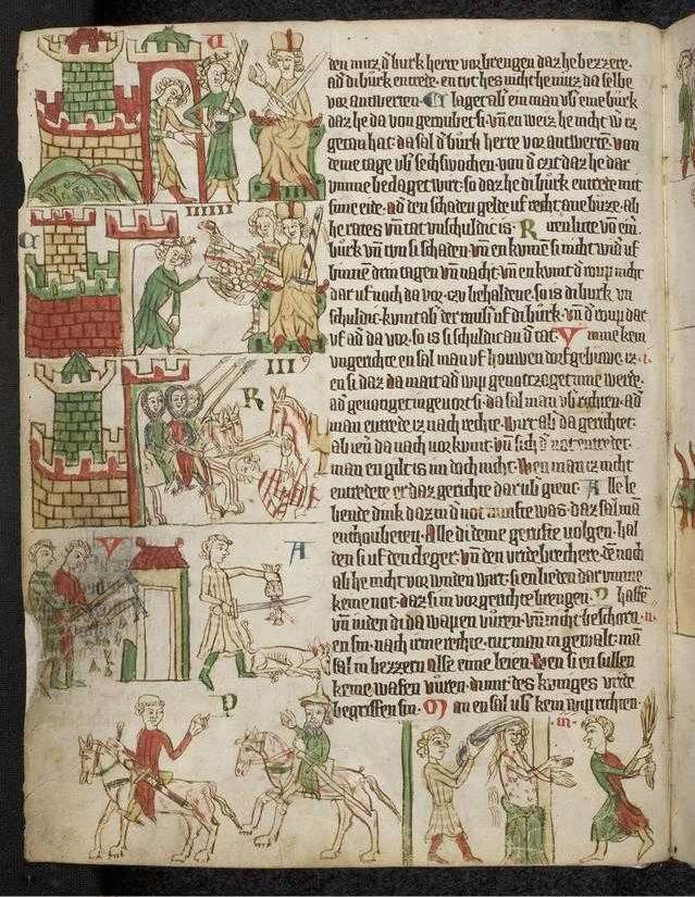 """""""Heidelberger Sachsenspiegel"""" (Ostmitteldeutschland, 1300 - 1320), Universitätsbibliothek Heidelberg, CC BY-SA 3.0 Deutschland"""