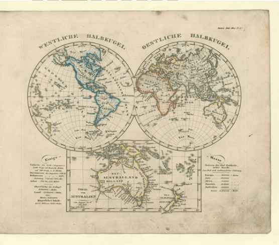 School atlas of all parts of the earth: according to the most recent conditions and covering the world edifice; scaled down in line with Stieler's Handatlas (1840), Georg Eckert Institute - Leibniz Institute for International Textbook Research Braunschweig
