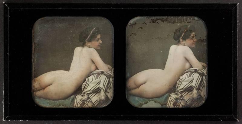 Braquehais, Auguste Bruno; Weiblicher Akt (Rückenansicht), Frankreich, Museum Ludwig