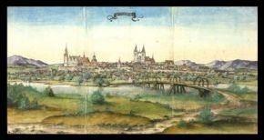 Wittenberg 1537 (Delin.VI,8,14, sog. Reisealbum des Pfalzgrafen Ottheinrich) © Universitätsbibliothek Würzburg