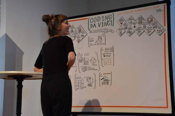 Das Graphic Recording von Silvia Dierkes beim Kick-off