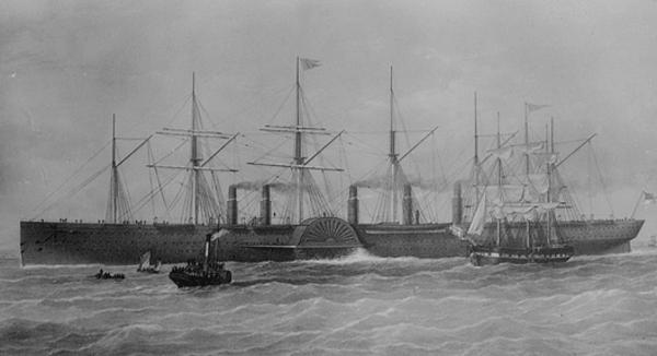 Die Great Eastern um 1860