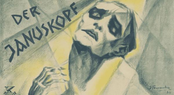 """Plakat zu """"Der Januskopf"""",1920, Deutsche Kinemathek Museum - Museum für Film und Fernsehen, Stadtmuseum Bocholt - Museum für Geschichte, Kunst & Kultur (Rechte vorbehalten - Freier Zugang)"""