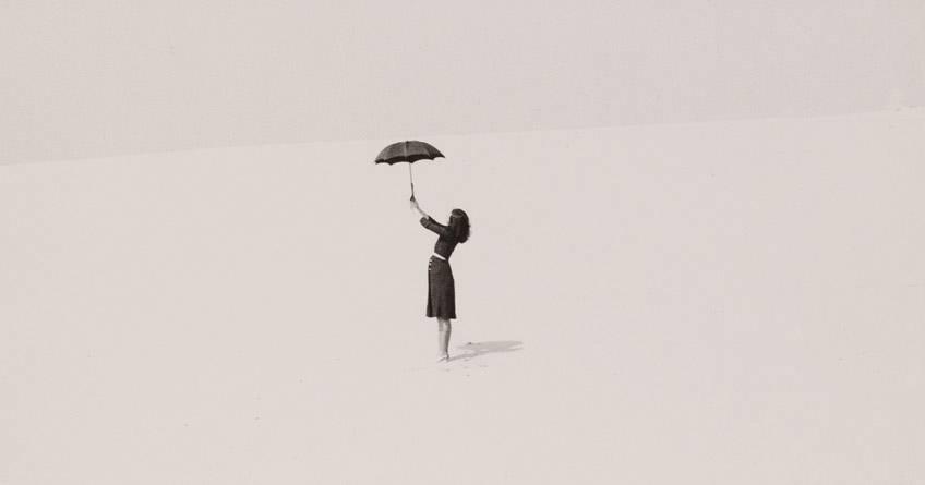 Regen auf dem Schirm