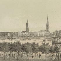 """""""Hamburg"""",Staats- und Universitätsbilbiothek Hamburg,(CC BY 3.0 Deutschland)"""
